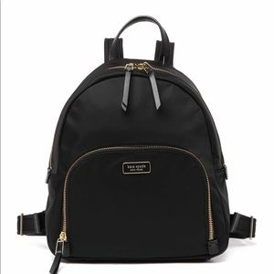 New Kate Spade Medium Black Nylon Backpack